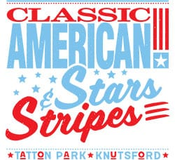 Classic American's Stars & Stripes Car Show Logo